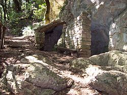 The cave at the Eremo Delle Carceri, close to Assisi, where Friar Sylvester stayed long periods in solitary prayer