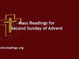Catholic mass Readings for Second Sunday of Advent