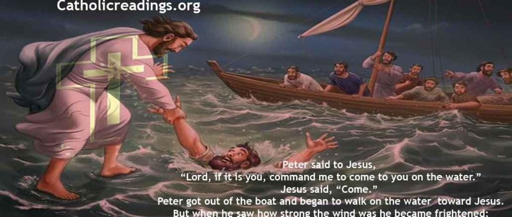 Jesus Walks on Water, Bible Verse of the Day, Matthew 14:22-36; Mark 6:45-56; John 6:16-24