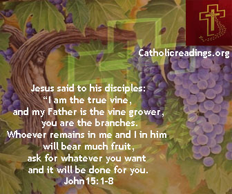 May 22 2019 - Wednesday, Catholic Quote of the Day - John 15:1-8