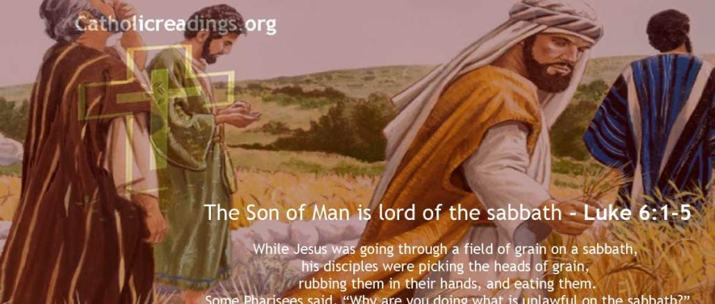 The Son of Man is Lord of the Sabbath - Luke 6:1-5, Matthew 12:1-8, Mark 2:23-28 - Bible Verse of the Day
