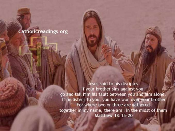 Where Two or Three are Gathered in My Name, I Am in Their Midst - Bible Verse of the Day