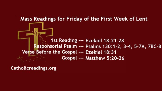 Friday of the First Week of Lent