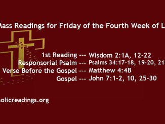 Friday of the Fourth Week of Lent