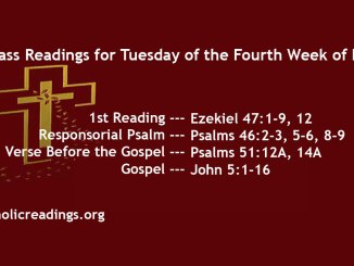Tuesday of the Fourth Week of Lent