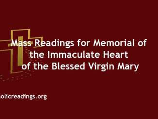 Mass Readings for Memorial of the Immaculate Heart of the Blessed Virgin Mary