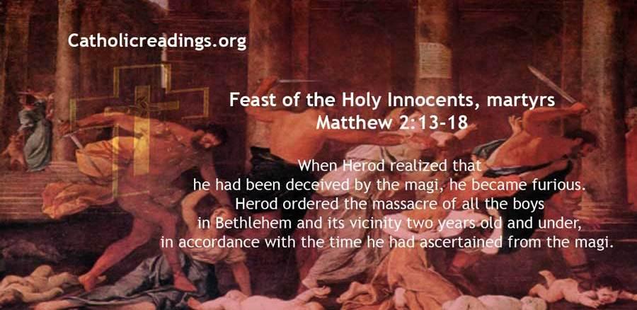 Herod Massacred Boys in Bethlehem - Matthew 2:13-18 - Bible Verse of the Day