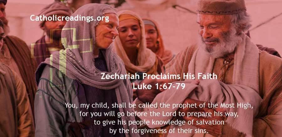 Zechariah Proclaims His Faith - Luke 1:67-79 - Bible Verse of the Day