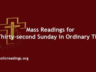 Mass Readings for Thirty-second Sunday in Ordinary Time