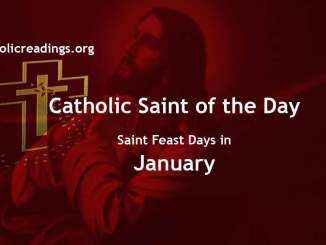 Catholic Saint Feast Days in January
