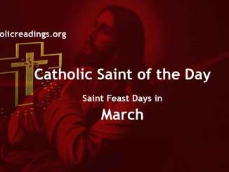 Catholic Saint Feast Days in March