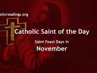 Catholic Saint Feast Days in November