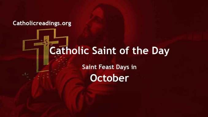 Catholic Saint Feast Days in October