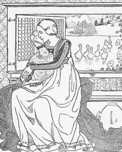 [Saint Werburgh and Her Goose]