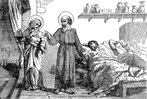 [Pictorial Lives of the Saints: Saints Julian and Basilissa, Martyrs]