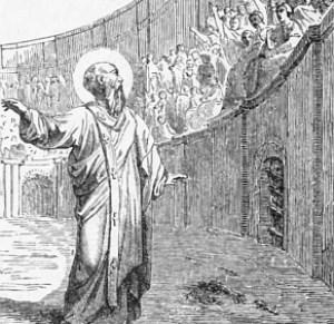 [drawing of Saint Polycarp]