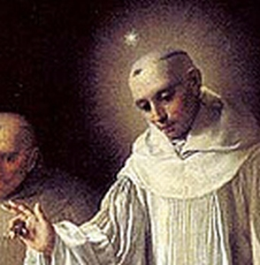 detail of a painting of Saint Robert of Molesme by Goya, 1787, Valladolid, Spain
