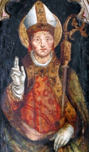 painting of Saint Verano of Cavaillon; swiped off the Wikipedia web site