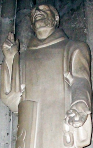 photograph of a statue of Saint Adjutor at la collégiale de Vernon, France; taken on 19 March 2007 by theoliane; swiped off the Wikipedia web site