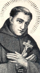 detail of an antique holy card of Blessed Amadeus of Portugal, date and artist unknown; swiped from Wikimedia Commons