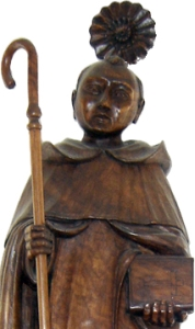 photograph of a devotional statuette of Saint Gonçalo, sculptor unknown; swiped off the Wikipedia web site