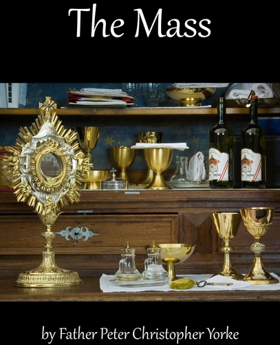 the cover of the ebook version of this text; it is a photograph of a sacristy and shows a monstrance and Mass paraphernalia including chalices, cruets, liturgical cloths and wine; taken in Austria in 2008 by Jorge Royan' swiped from Wikimedia Commons