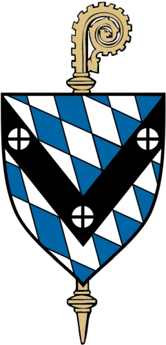 coat of arms of the Abbey of Saint Vincent in Latrobe, Pennsylvania