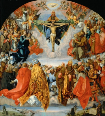 All Saints, from the Landauer Altar, by Albrecht Durer, 1511; Kunsthistorisches Museum; swiped off Wikipedia