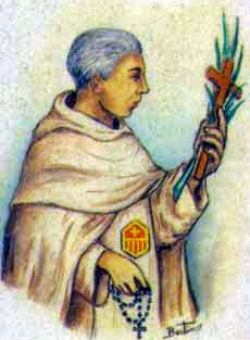 detail of an Italian holy card of Blessed Antonio Lahoz Gan by Bertoni, date unknown; swiped from Santi e Beati