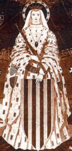 detail of a Blessed Esclaramunda of Majorca, date and artist unknown; swiped from Santi e Beati
