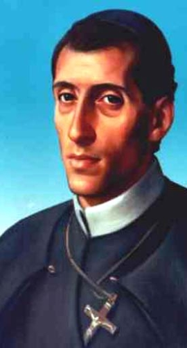 detail of a portrait of Blessed Gennaro Maria Sarnelli, date and artist unknown; swiped from Santi e Beati