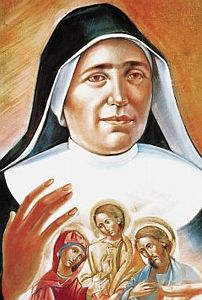 detail of the Vatican portrait of Blessed Maria Domenica Mantovani, artist unknown