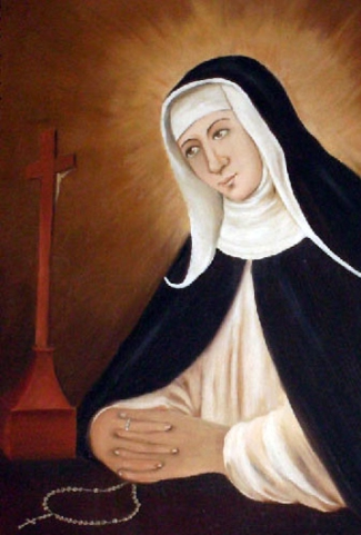 detail of a painting of Blessed Maria Mancini, date and artist unknown; swiped from Santi e Beati