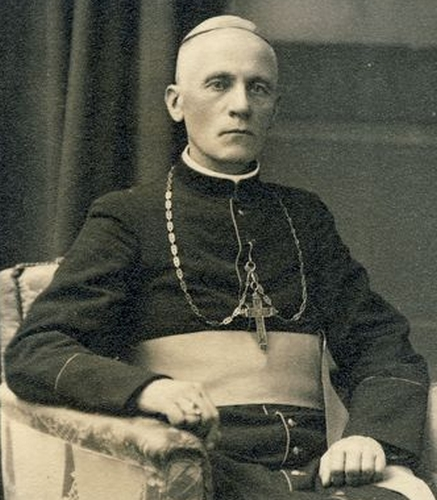 photograph of Blessed Teofilius Matulionis, 20 October 1933, photographer unknown; swiped from Wikimedia Commons