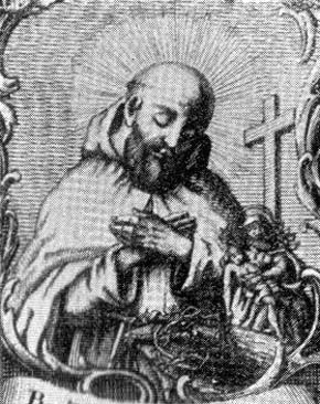 detail of an antique Italian Blessed Tommaso of Costacciaro holy card, date and artist unknown; swiped from Santi e Beati