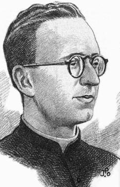 detail of an illustration of Blessed Xavier Bordas Piferrer, date and artist unknown; swiped from Santi e Beati