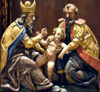 statue of the Circumcision of Christ; date unknown, artist unknown; photographed in 2012 by FA2010; swiped from Wikimedia Commons