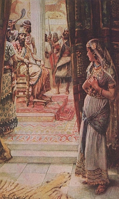 illustration of 'Esther at the court' by Harold Copping, 1909