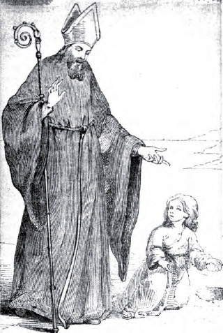 illustration of Saint Augustine of Hippo from 'A Garner of Saints', 1900, artist unknown