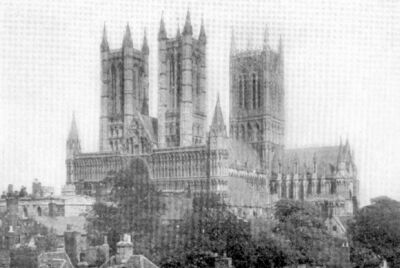 Lincoln cathedral, an example of English Gothic architecture