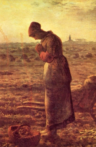 detail from the painting L'Angélus by Jean-François Millet