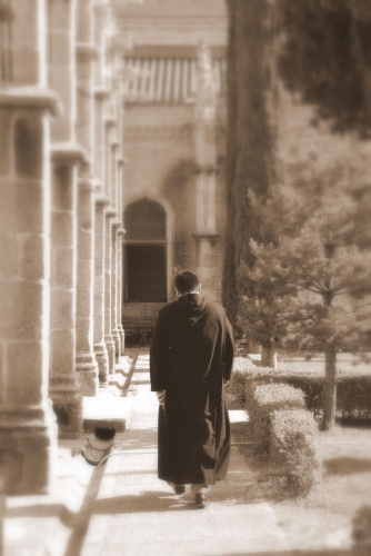 monk at the Benedictine monastery of the monastery of Saint Paul where the brothers spend their days in prayer and meditation; photographed on 16 September 2007 by Jesus Solana; swiped from Wikimedia Commons