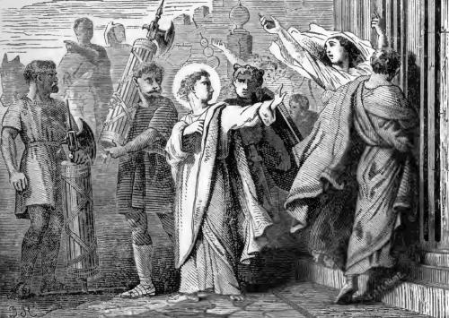 Pictorial Lives of the Saints illustration for Saint Symphorian, Martyr