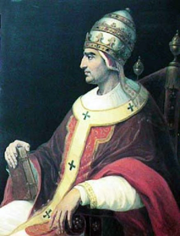 17th century portrait of Pope Gregory XI, Avignon, France, artist unknown; swiped from Wikimedia Commons