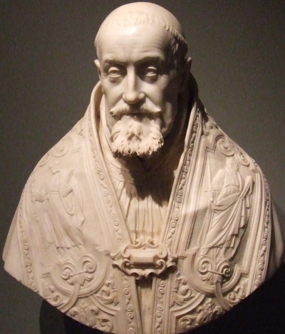 bust of Pope Gregory XV by Gian Lorenzo Bernini, date unknown; photographed on 6 March 2010 by Laslovarga