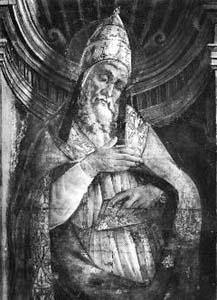 illustration of Pope Saint Stephen I, date unknown, artist unknown; swiped from Santi e Beati