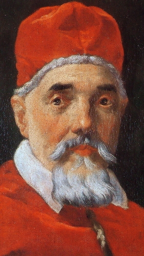detail from the painting 'Pope Urban VIII', by Gian Lorenzo BERNINI, 1632, oil on canvas, 67 x 50 cm, Galleria Nazionale d'Arte Antica, Rome, Italy