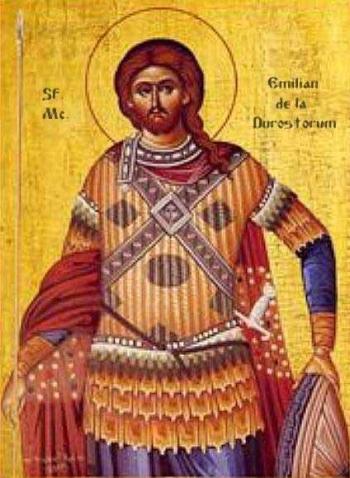 Saint Aemilian of Dorostorium icon, date and artist unknown; swiped from Santi e Beati