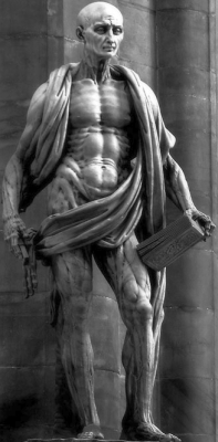 statue of Saint Bartholomew the Apostle draped in his own skin, by Marco d'Agrate, Milano, Italy