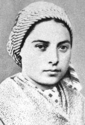 photograph of Saint Bernadette of Lourdes, c.1858; swiped off Wikimedia Commons
